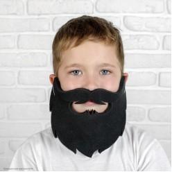 Борода резная (поролон) чёрная 23*16см
