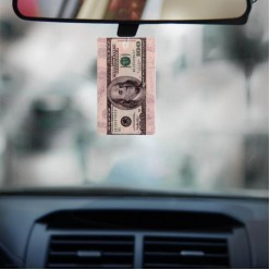 "Ароматизатор в авто ""100 dollars"" 7*11см, бумага"
