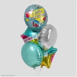 """Набор фольгированных шаров """"С Днём Рождения!"""" 5 шт"""