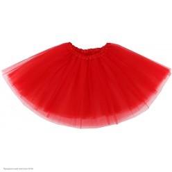 Юбка детская Фатин 3-слойн (красная) 30см
