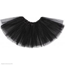Юбка детская Фатин 3-слойн (чёрная) 30см