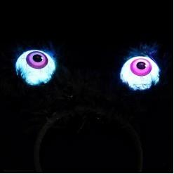 Ободок световой Глаза монстра (пластик, мех) 22*20см