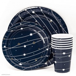 "Стаканы ""Звёздная траектория"" тиснение, 250мл 6шт, бумага"