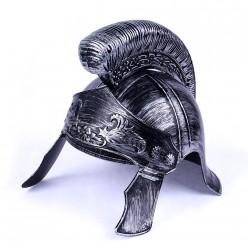 Шлем Римский воин, под серебро (пластик)