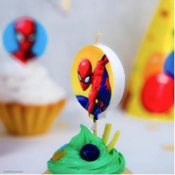 """Свечи-круги для торта """"Человек-паук"""" 5 шт, 5см"""