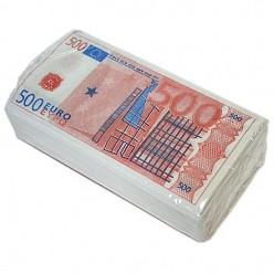 "Салфетки ""Пачка денег 500 EURO"""