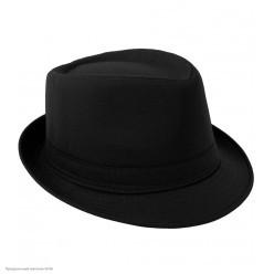 """Шляпа Мужская """"Гангстер"""" чёрная (ткань)"""