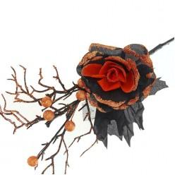 """Букет """"Увядание"""" чёрно-оранжевый"""