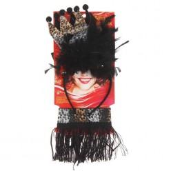 """Набор """"Чёрная королева"""" (ободок, повязка на шею)"""