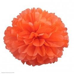 Помпон бумажный 30см оранжевый