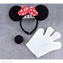 Набор Мышки Минни 2 (уши, носик, 2 перчатки)