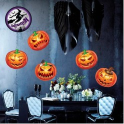 """Набор оформления на  Хеллоуин """"Тыквы"""" на скотче 19*19см"""