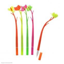 """Ручка фигурная """"Цветок"""" шариковая 20см (пластик)"""