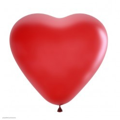 "Шар Сердце без рисунка CHERRY RED 15""/38см"