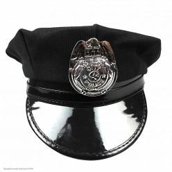 Фуражка Полицейского чёрная (ткань) р.54-58