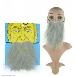 Борода Седая прямая 20*16см (на резинке)