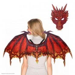 Набор дракона  (крылья, маска) красный