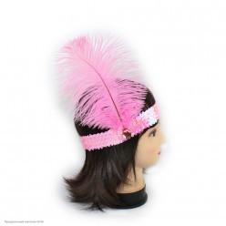 Повязка на голову Кабаре пайетки (розовая)