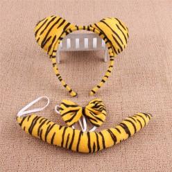 Набор Тигра (ушки, бабочка, хвост) ворс