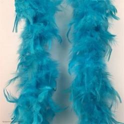 Боа (перья) большое 1,8 м голубое