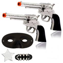 Набор Ковбоя (револьверы 2шт, жетон, маска, патроны)
