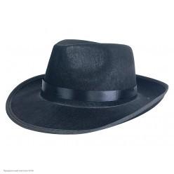 """Шляпа Мужская """"Гангстер"""" чёрная, фетр"""