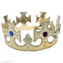Корона королевская золотая (пластик)