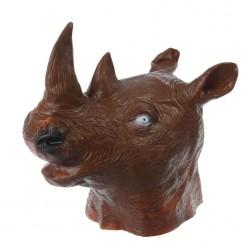 Маска Носорог коричневый (латекс)