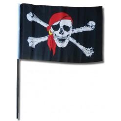 Флаг пиратский 14*20 см