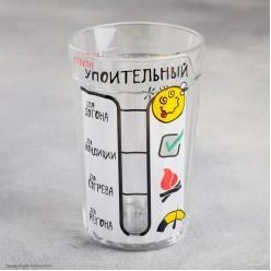 """Стакан гранёный """"Упоительный"""" 250 мл, стекло"""