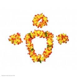 Набор Гавайский (лея, венок, браслеты) оранжевый