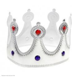 Корона королевская серебряная со стразами (мягкая)