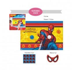 """Игра для праздника """"Приклей-ка"""" 77*53см Человек-паук"""