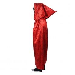 """Накидка с капюшоном """"Паутина"""" 85см +маска (красно-чёрная)"""