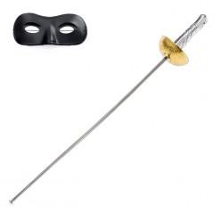 Набор Зорро: рапира, маска (пластик)