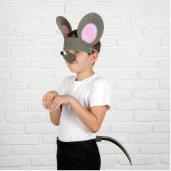 Набор Мышки: уши повязка, нос, хвост (поролон)