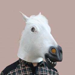 """Маска """"Конь"""" белый (латекс)"""