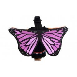 Крылья Бабочки 142*67см розово-сиреневые, ткань