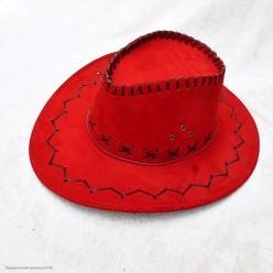Шляпа Ковбоя красная (под замшу)