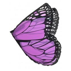Крылья бабочки 104*47см, фиолетовые, шифон