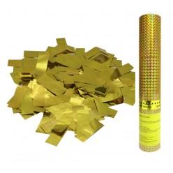 Пневмохлопушка 30см (золотое конфетти)