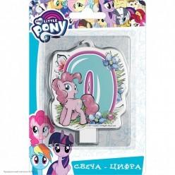 Свеча-цифра 0 My Little Pony, 8см
