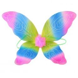 """Крылья Бабочки трёхцветные """"Узорчатые"""" 53*40см (капрон)"""