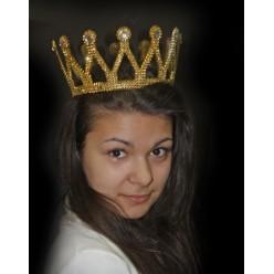 Корона королевская Венец золотая (пластик)