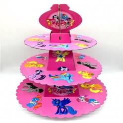 """Подставка для пирожных """"Маленький пони"""" 3 яруса, 28,5*38см"""