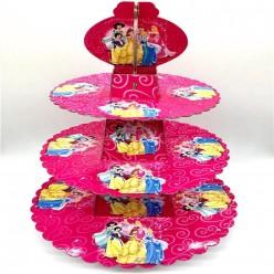 """Подставка для пирожных """"Принцессы Диснея"""", 3 яруса 28,5*38см"""