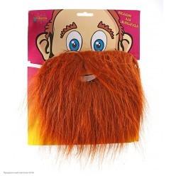 Борода Рыжая прямая 20*19см (на резинке)