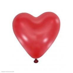 "Шар Сердце без рисунка CHERRY RED 5""/13см"