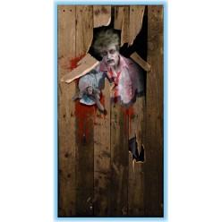 """Постер на дверь для Хэллоуина """"Зомби"""""""