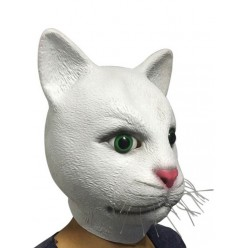 "Маска ""Кошка белая"", (латекс)"